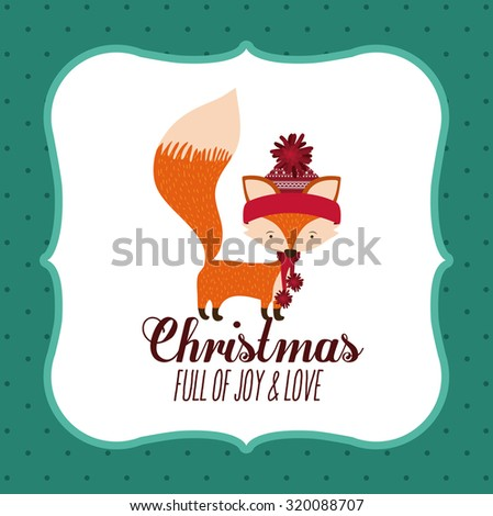 Merry Christmas concept with decoration icons  design, vector illustration eps 10