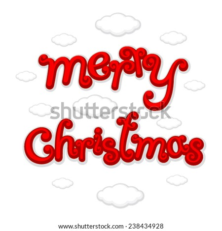 Merry Christmas creative greeting background vector - stock vector