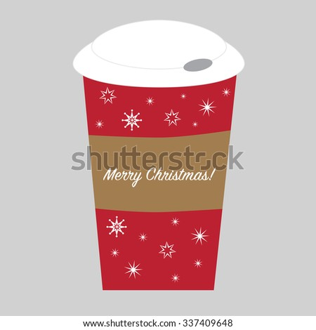Merry Christmas Cup - stock vector