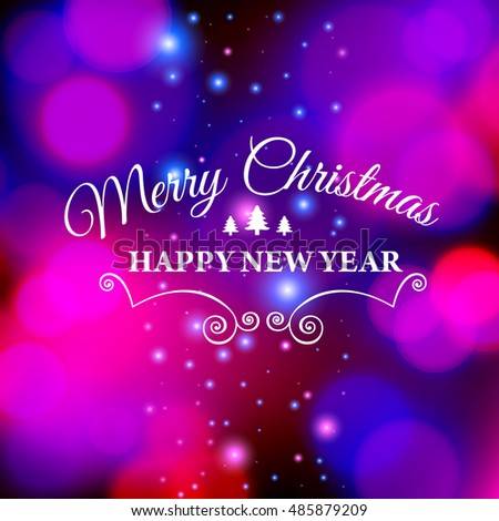 Merry christmas ecard template vector illustration stock vector merry christmas e card template vector illustration m4hsunfo