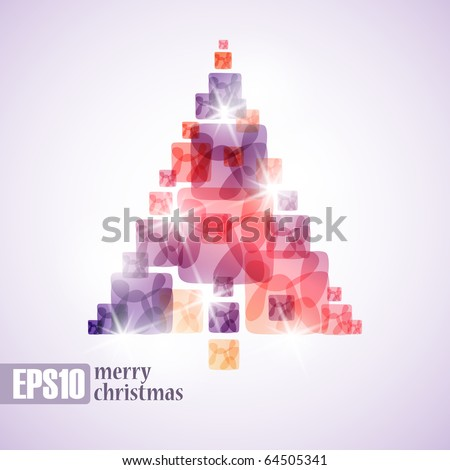 merry christmas, eps10 - stock vector