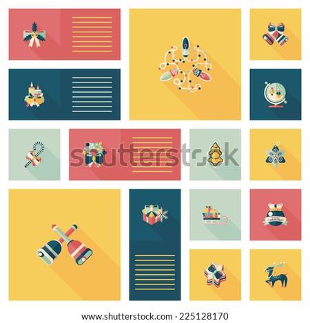 Merry Christmas flat app ui background,eps10 - stock vector