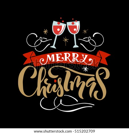Merry christmas happy holidays greeting card stock vector hd merry christmas for happy holidays greeting card lettering celebration logo set typography for winter m4hsunfo