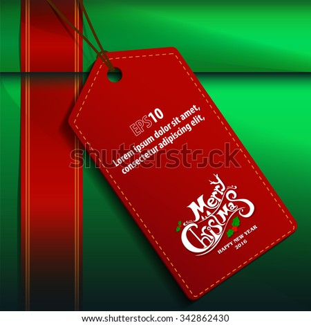 Merry christmas Gift box - stock vector