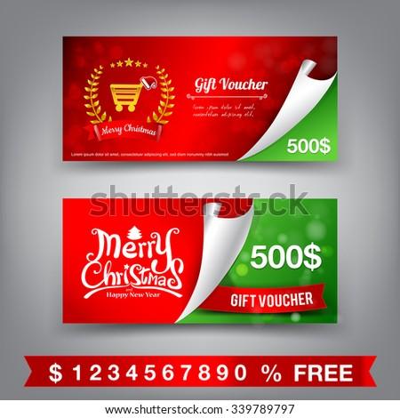 Christmas Certificate Photos RoyaltyFree Images Vectors – Christmas Voucher Templates Free