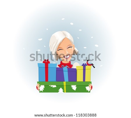 Merry Christmas Gifts - stock vector