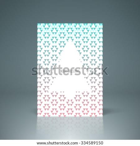 Merry Christmas greeting card design  vector stock eps10 illustration - stock vector