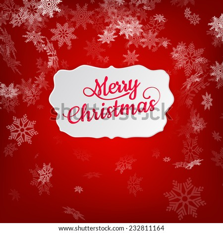 Merry Christmas greeting card. EPS 10 vector file included - stock vector