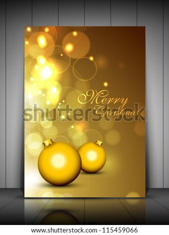 Merry christmas greeting card gift card stock vector 115459066 merry christmas greeting card gift card or invitation card with decorative xmas balls on shiny stopboris Choice Image