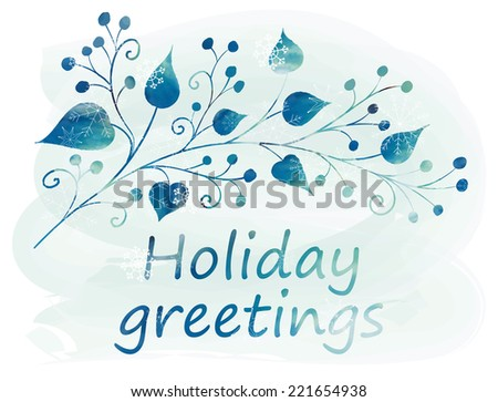 Merry Christmas Greeting Card. Holiday design. Winter. Vector illustration. - stock vector