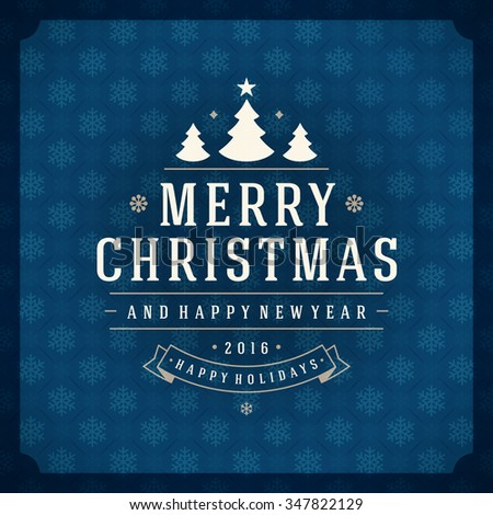 Merry christmas greetings card poster design stock photo photo merry christmas greetings card or poster design textured paper snowflakes pattern vector background and retro m4hsunfo