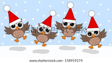 merry Christmas happy holidays - stock vector