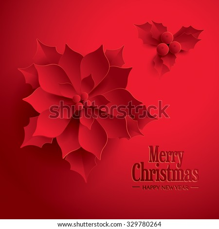 Merry Christmas! Happy New Year.  - stock vector