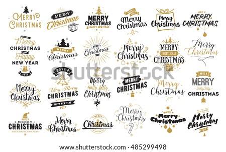 Vector illustration in rank M-rank: Merry Christmas & Happy New Year ...