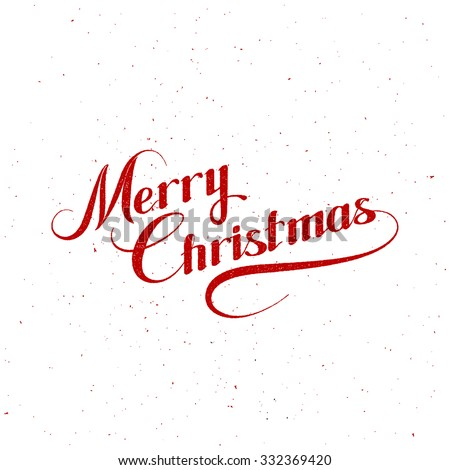 Merry Christmas. Holiday Vector Illustration With Lettering Composition - stock vector