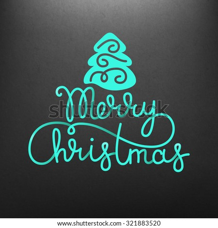Merry christmas illustration - stock vector