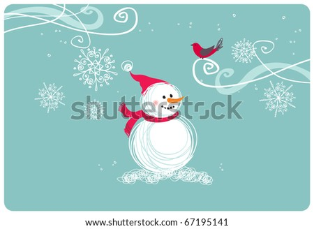 Merry Christmas illustration - stock vector