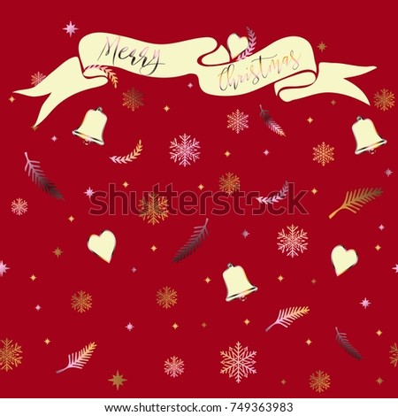Merry Christmas. Inspirational Phrase, Quote, Congratulation. Lettering.  Vector Background, Calligraphy
