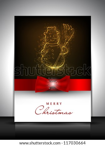 Merry Christmas invitation card, gift card or greeting