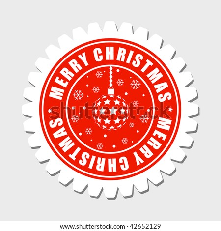 Merry Christmas Label - stock vector