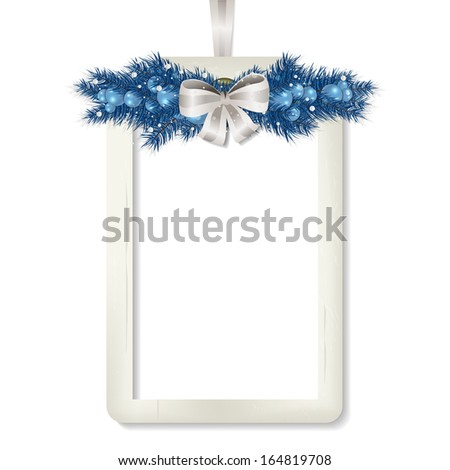 Merry Christmas Label - A nice label with copy space for text. - stock vector