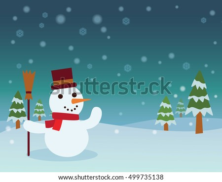 Merry Christmas Landscape.