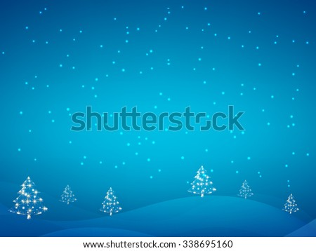 Merry Christmas Landscape. Vector