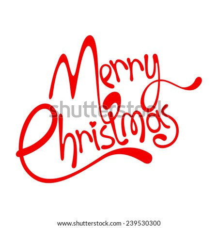 Merry Christmas lettering - stock vector