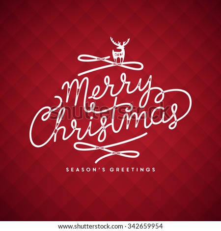 Merry Christmas lettering illustration - stock vector
