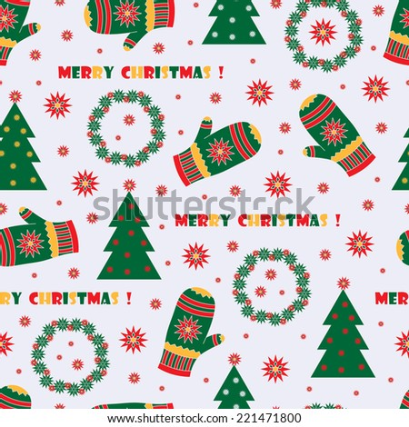 Merry Christmas. New Year seamless pattern.