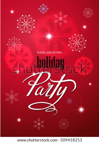 Merry christmas party invitation happy new stock vector 509418253 merry christmas party invitation and happy new year party invitation card christmas party poster holiday design stopboris Image collections