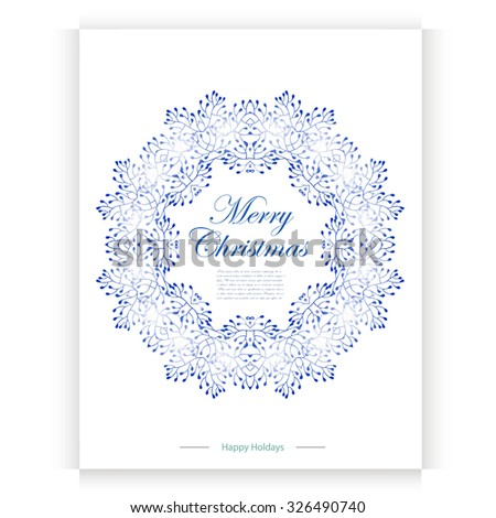 Merry Christmas postcard with place for your text - stock vector