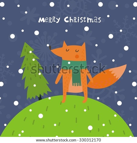 merry christmas print design - stock vector