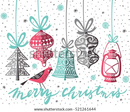 Merry Christmas. Print Design