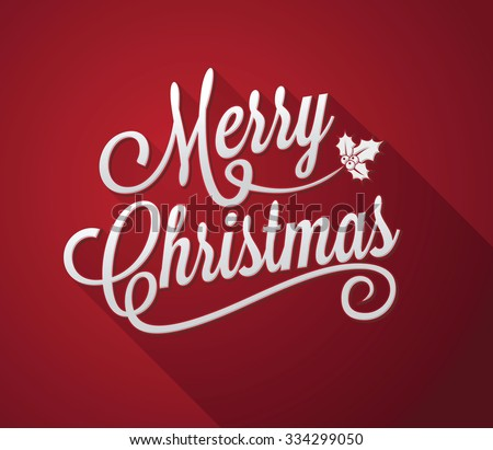Merry Christmas red background - stock vector