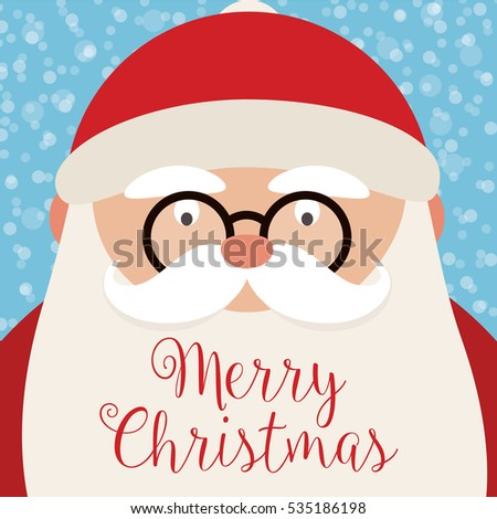 Merry Christmas - Santa Claus Vector Illustration - eps10