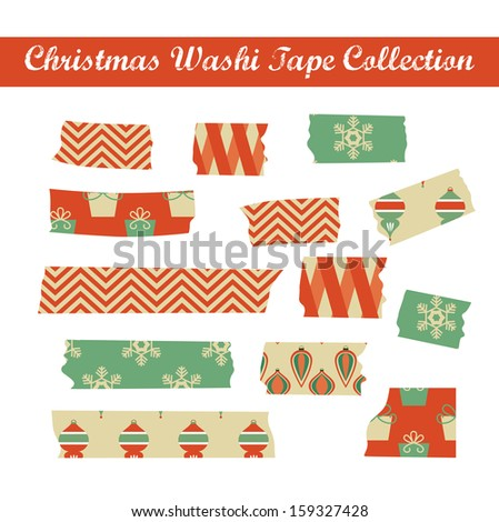 merry christmas scotch tape design. vector illustration - stock vector