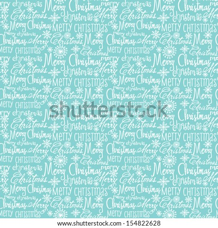 Merry Christmas seamless background pattern - stock vector