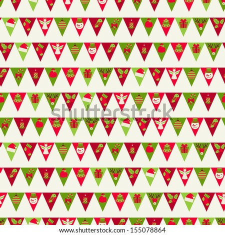 Merry Christmas seamless pattern. - stock vector