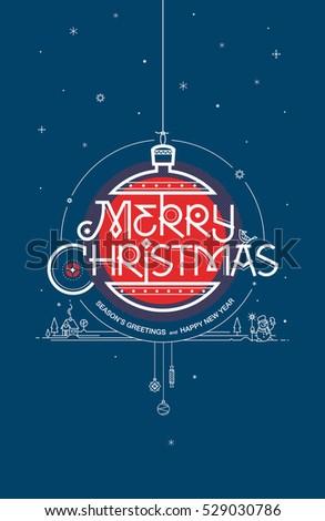 Merry christmas seasons greetings happy new stock vector 529030786 merry christmas seasons greetings and happy new year greeting card vector illustration m4hsunfo