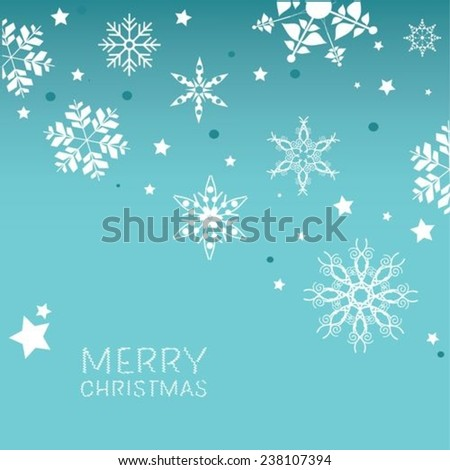 Merry Christmas Snowflake background - stock vector