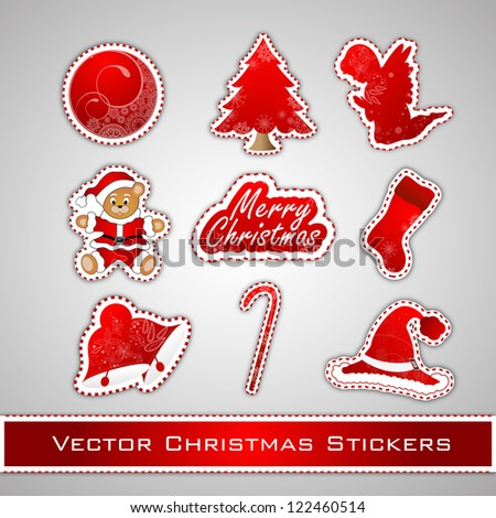 Merry Christmas tag. EPS 10. - stock vector