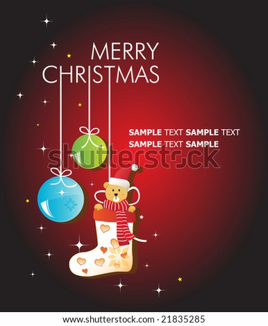 Merry Christmas. Template. For More Vectors VISIT MY GALLERY. - stock vector