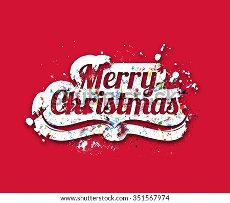 Merry Christmas text - stock vector