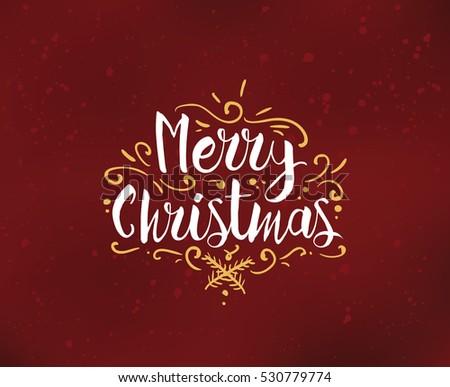 Merry Christmas Text Design Vector Logo Stock Vector 539632930 ...