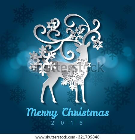 Merry Christmas Vector - stock vector