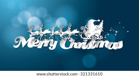 Merry Christmas Vector Background - stock vector