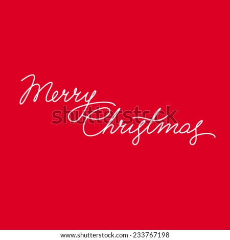Merry Christmas Vector Calligraphic Lettering - stock vector