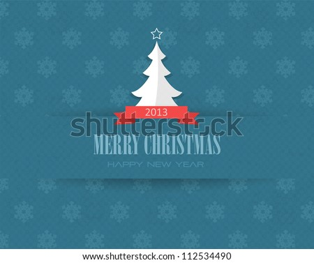 Merry Christmas Vector Design - stock vector