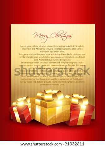 merry christmas vector design with gift box